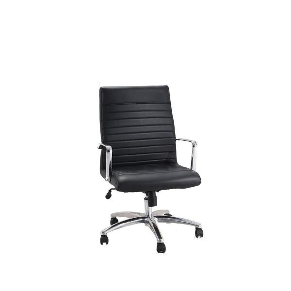 AdirOffice Faux Black Leather Executive Office Chair with Adjustable Height