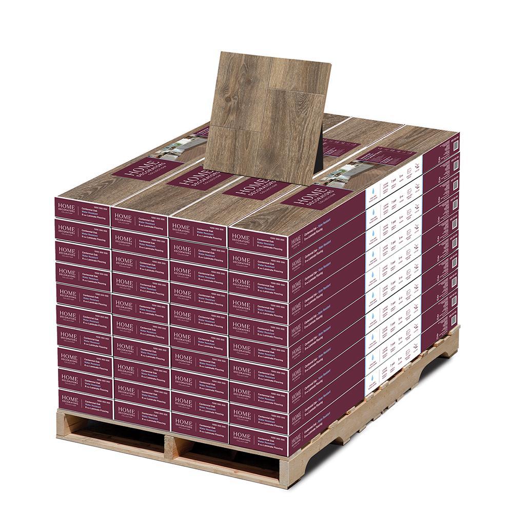 Centennial Oak 8 mm T x 7.5 in W x 50.67 in L Water Resistant Laminate Flooring (947.6 sq. ft./pallet)