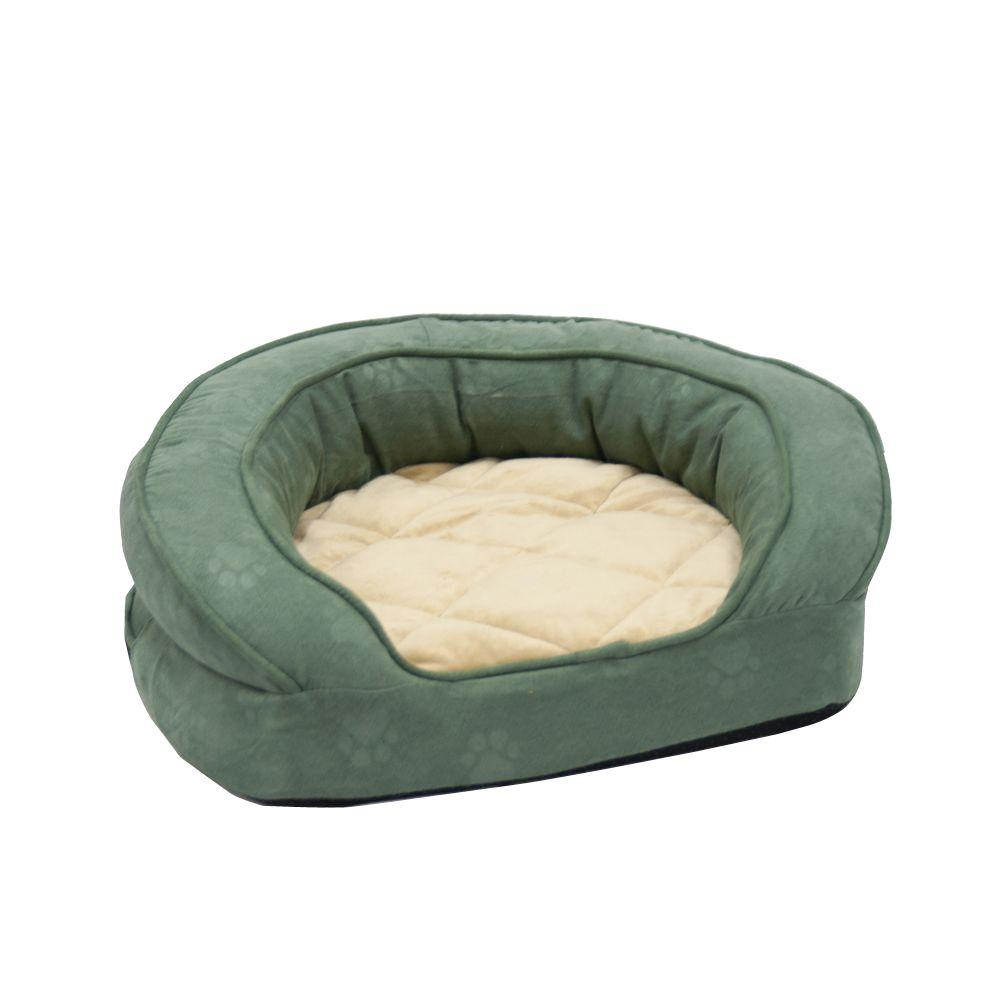 K&H Manufacturing Deluxe Ortho Bolster Large Green Paw Pr...