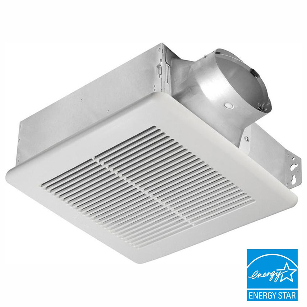 Delta Breez Slim Series 100 Cfm Ceiling Or Wall Bathroom Exhaust Fan Energy Star Slm100 The Home Depot
