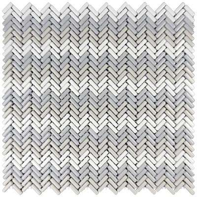 Constantine Bannaret 10.75 in. x 12 in. x 6.35 mm Multicolor Glass Mesh-Mounted Mosaic Tile (8.95 sq. ft. / case)
