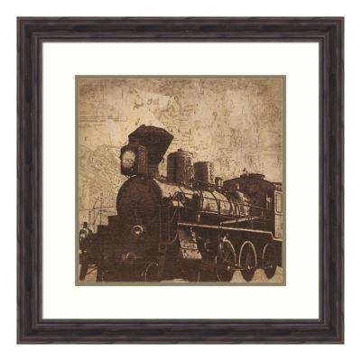 """Train Travel"" by Pied Piper Framed Wall Art"
