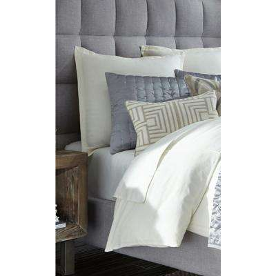 Soma Ivory 14 in. x 20 in. Rectangle Geometric Pattern Decorative Pillow