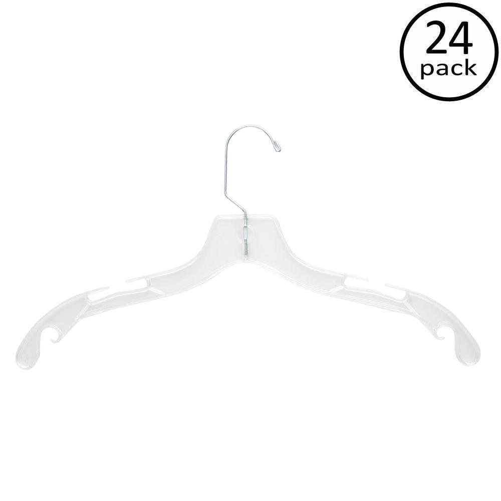 Honey-Can-Do Crystal Clear Dress Hanger (24-Pack)