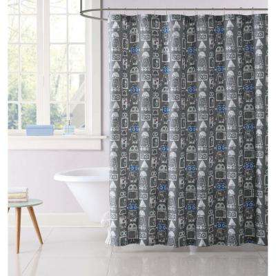 Roboto Printed 72 in. Multiple Shower Curtain