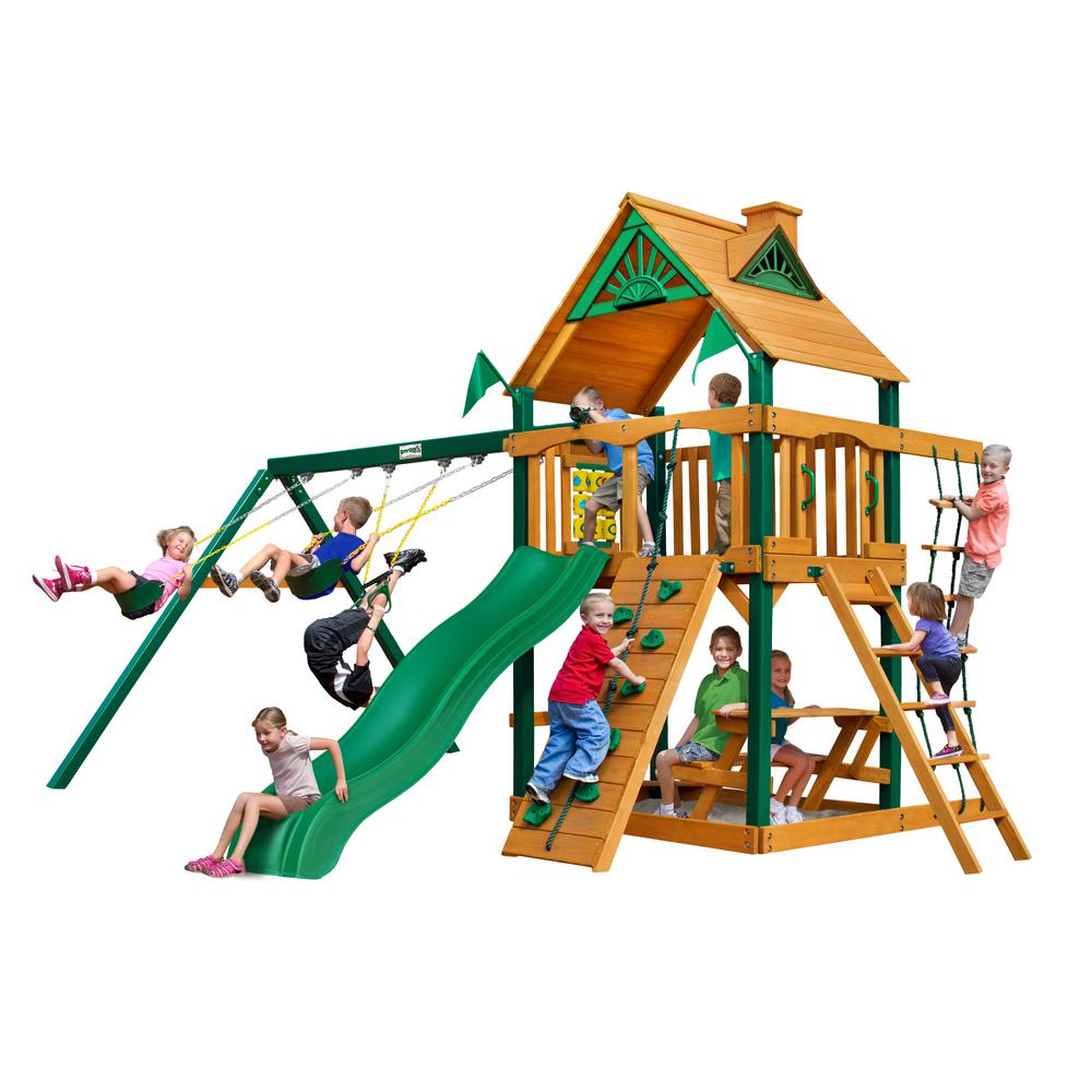 Chateau Cedar Swing Set with Timber Shield Posts