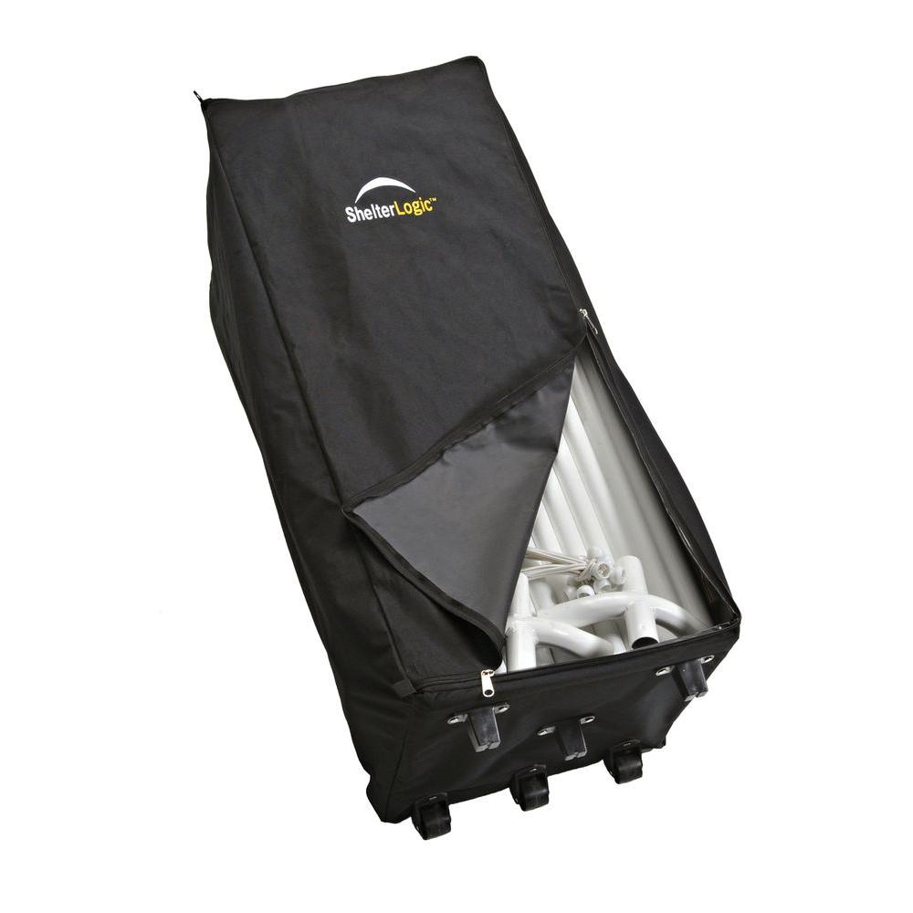 ShelterLogic 1 ft  W x 3 ft  D Store-IT Canopy Rolling Storage Black Bag  with Heavy-Duty Nylon Fabric and Heavy-Duty Wheels