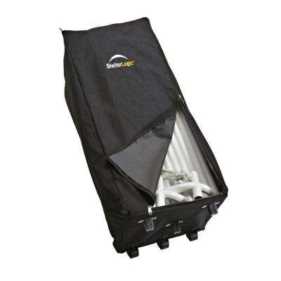 1 ft. W x 3 ft. D Store-IT Canopy Rolling Storage Black Bag with Heavy-Duty Nylon Fabric and Heavy-Duty Wheels