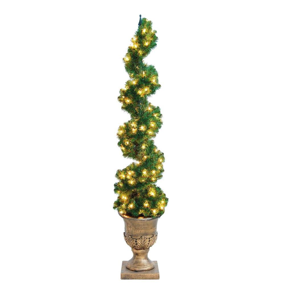 Home Accents Holiday 6 Ft. Christmas Spiral Potted