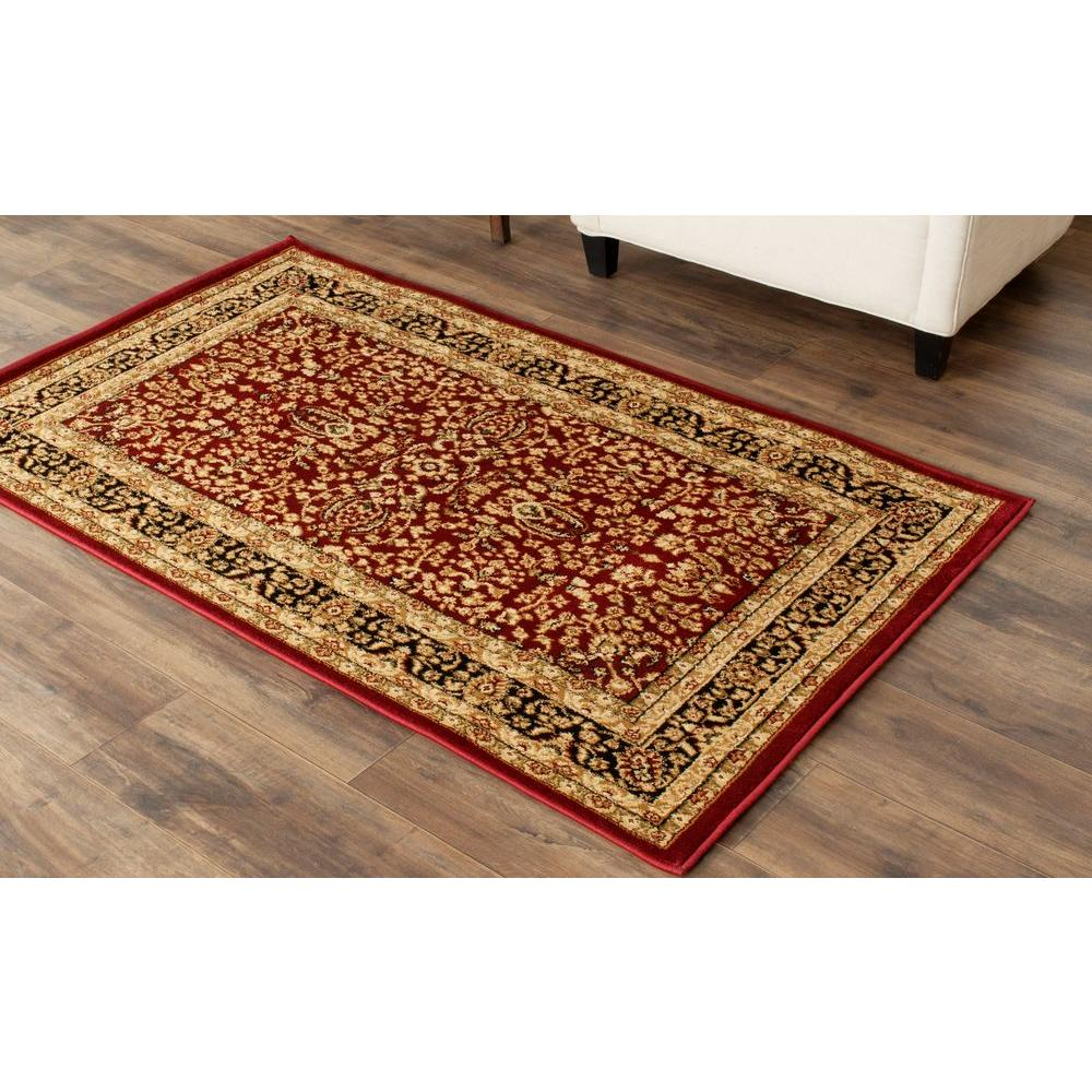 Safavieh Lyndhurst Red/Black 3 ft. 3 in. x 5 ft. 3 in. Area Rug