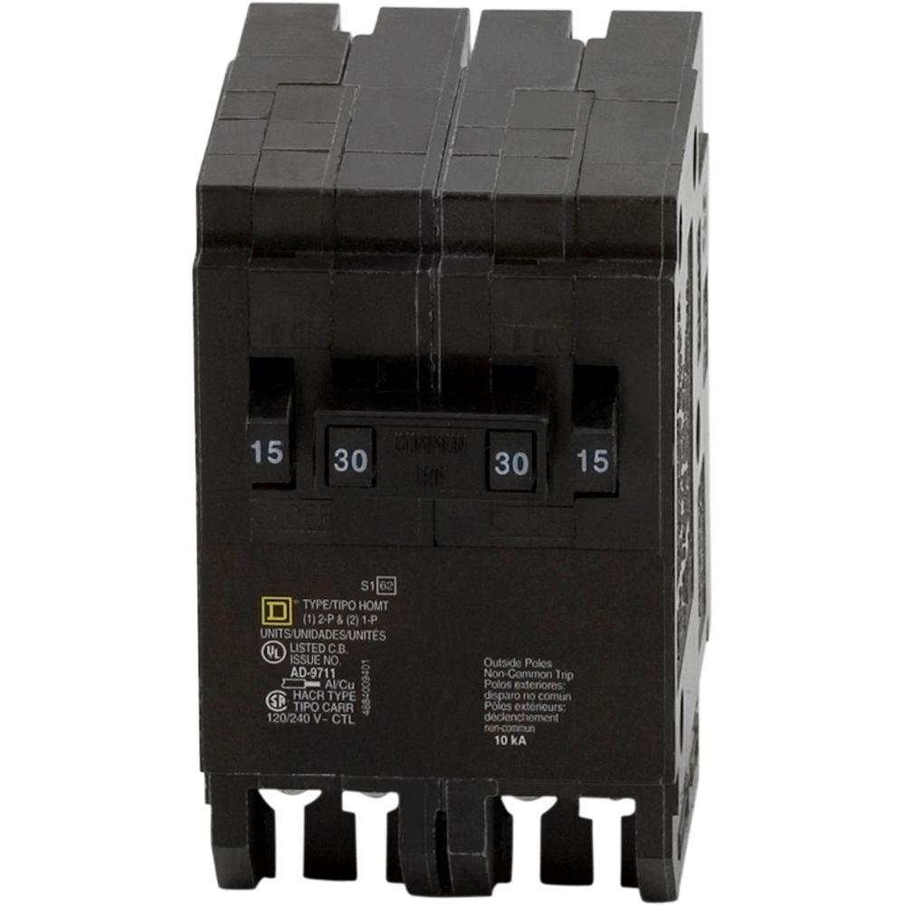 Square D Homeline 2 15 Amp Single Pole 1 40 Quad Murray 15amp Singlepole Type Mpcircuit Breaker This Review Is Fromhomeline 30 Tandem Circuit