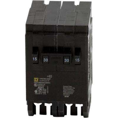 Homeline 2-15 Amp Single-Pole 1-30 Amp 2-Pole Quad Tandem Circuit Breaker