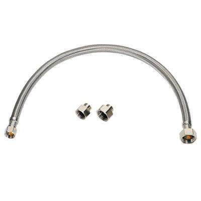 Universal Connector Kit x 20 in. Faucet Supply Line Braided Stainless Steel