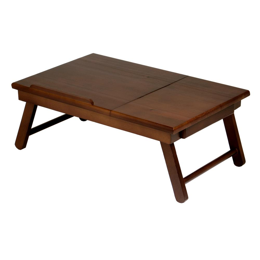 Winsome Alden Lap Desk, Flip Top with Drawer, Foldable Legs