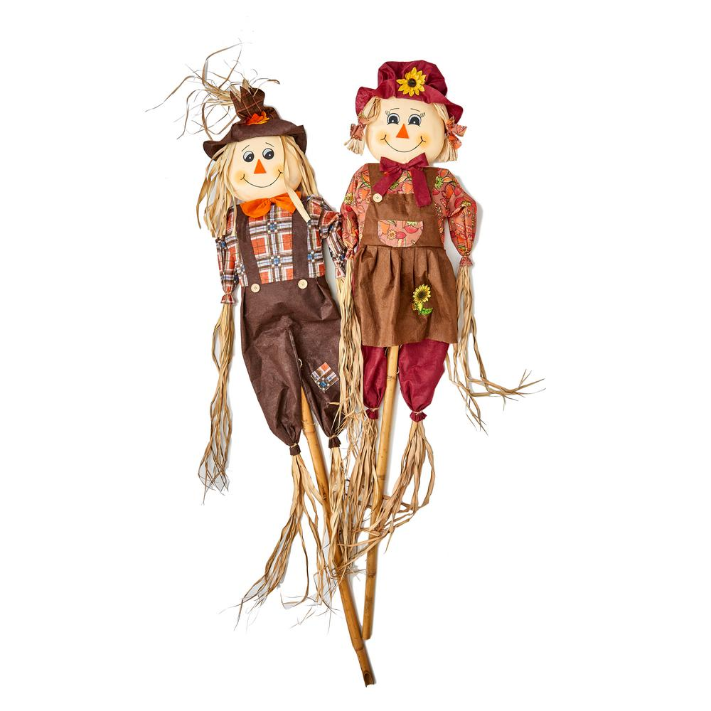 Worth Imports 60 in. Scarecrow on Stake (Set of 2)