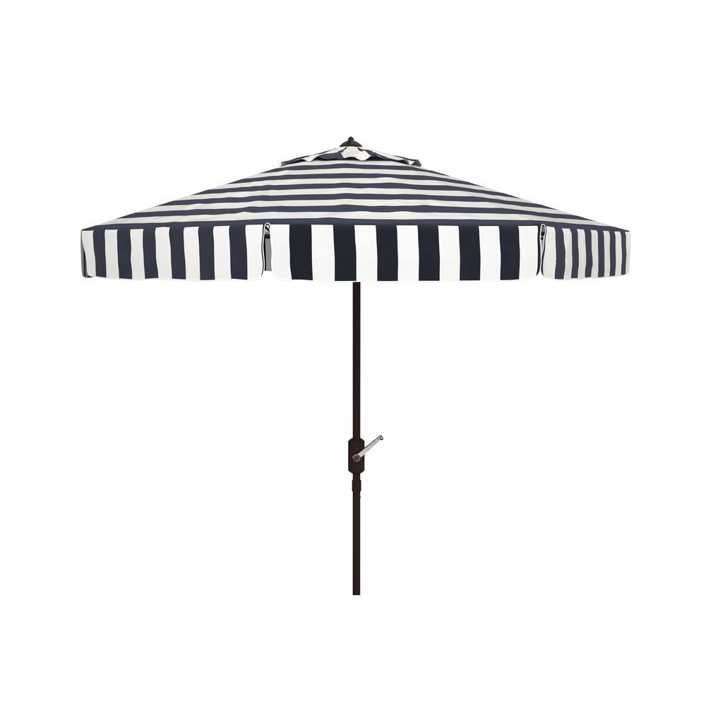 Elsa 11 ft. Aluminum Market Tilt Patio Umbrella in Black/White