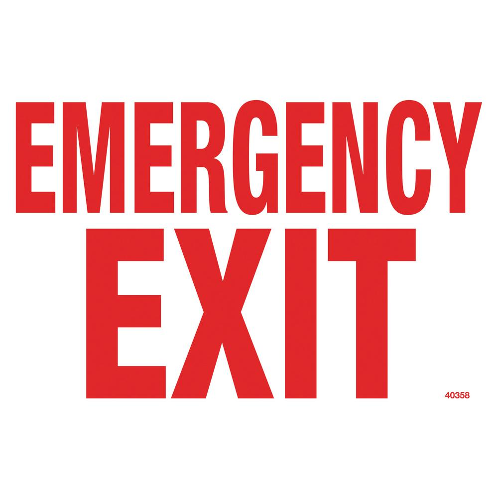 Residential or Commercial Swimming Pool Signs, Emergency Exit