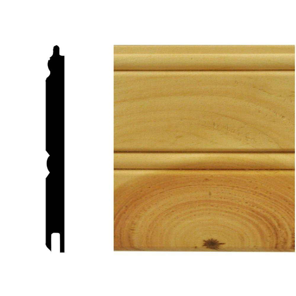 0.67 sq. ft. North America Knotty Pine Tongue and Groove Wainscot