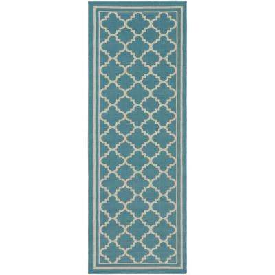 Blue - Runner 1\'-2\' - Outdoor Rugs - Rugs - The Home Depot