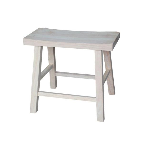 International Concepts 18 in. Unfinished Wood Bar Stool 1S-681