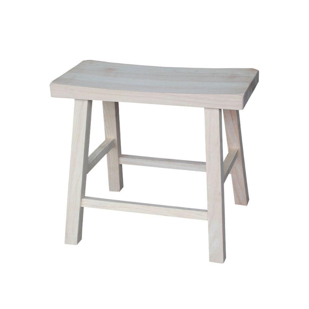 Unfinished Wood Bar Stool  sc 1 st  The Home Depot & International Concepts 18 in. Unfinished Wood Bar Stool-1S-681 ... islam-shia.org