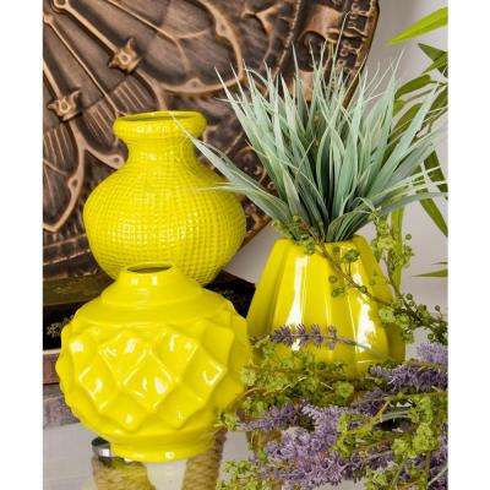 Yellow Decorative Vases Vase And Cellar Image Avorcor