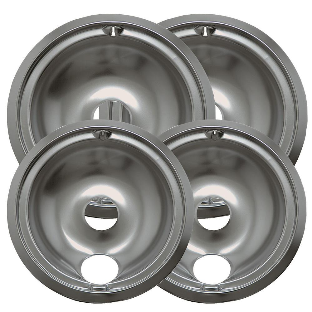 6 in. 2-Small and 8 in. 2-Large B Style Drip Pan