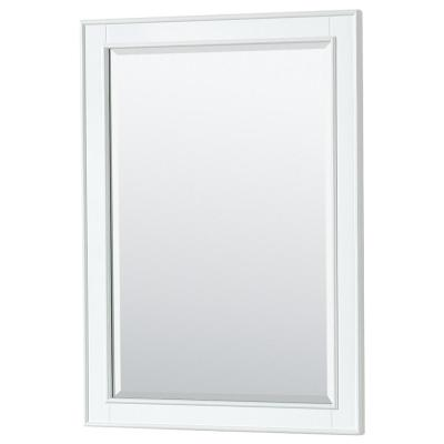 Deborah 24 in. W x 33 in. H Framed Wall Mirror in White