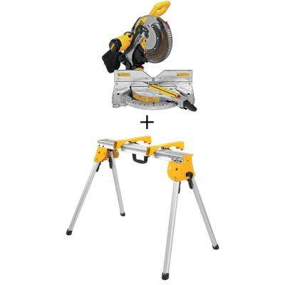 15 Amp 12 in. Double Bevel Compound Miter Saw with Bonus Heavy-Duty Work Stand
