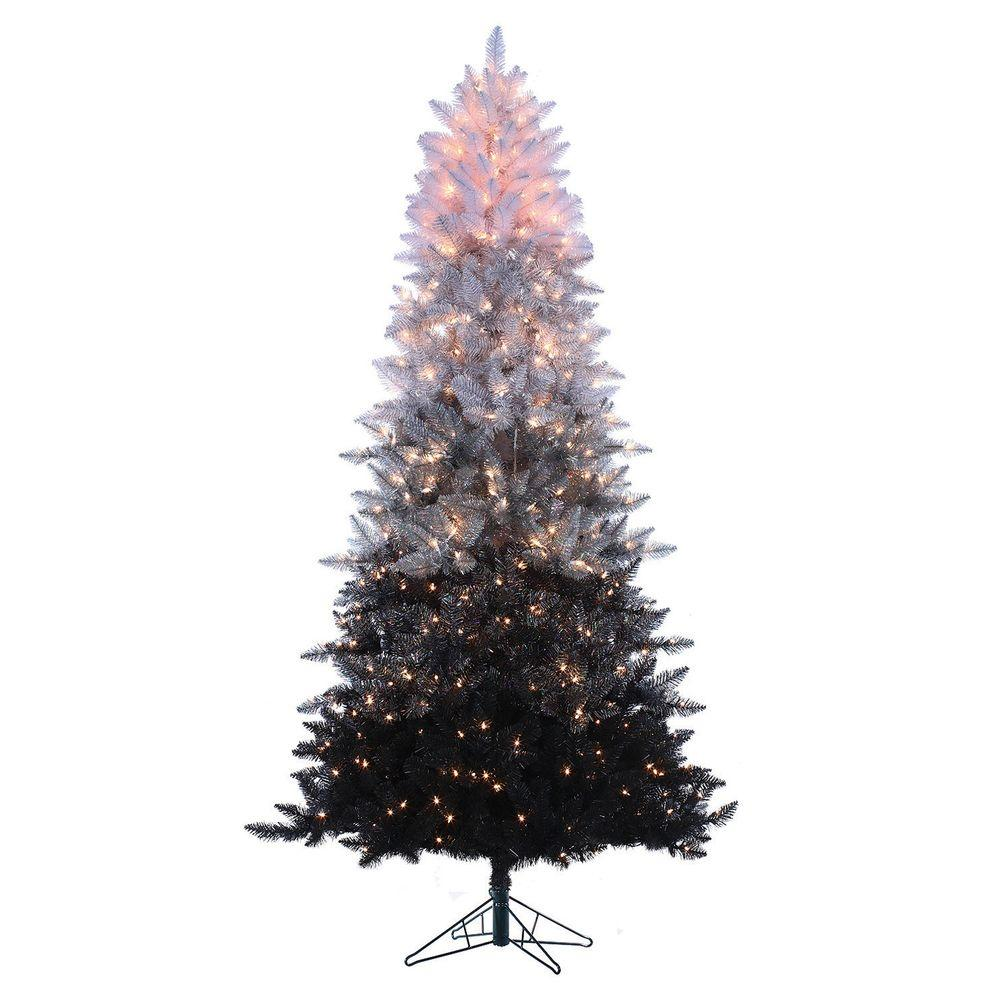 Sterling 75 Ft Pre Lit Black Ombre Spruce Artificial
