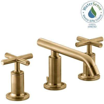 Cross Low Arc ADA Compliant Widespread Bathroom Sink Faucets - Ada bathroom faucet