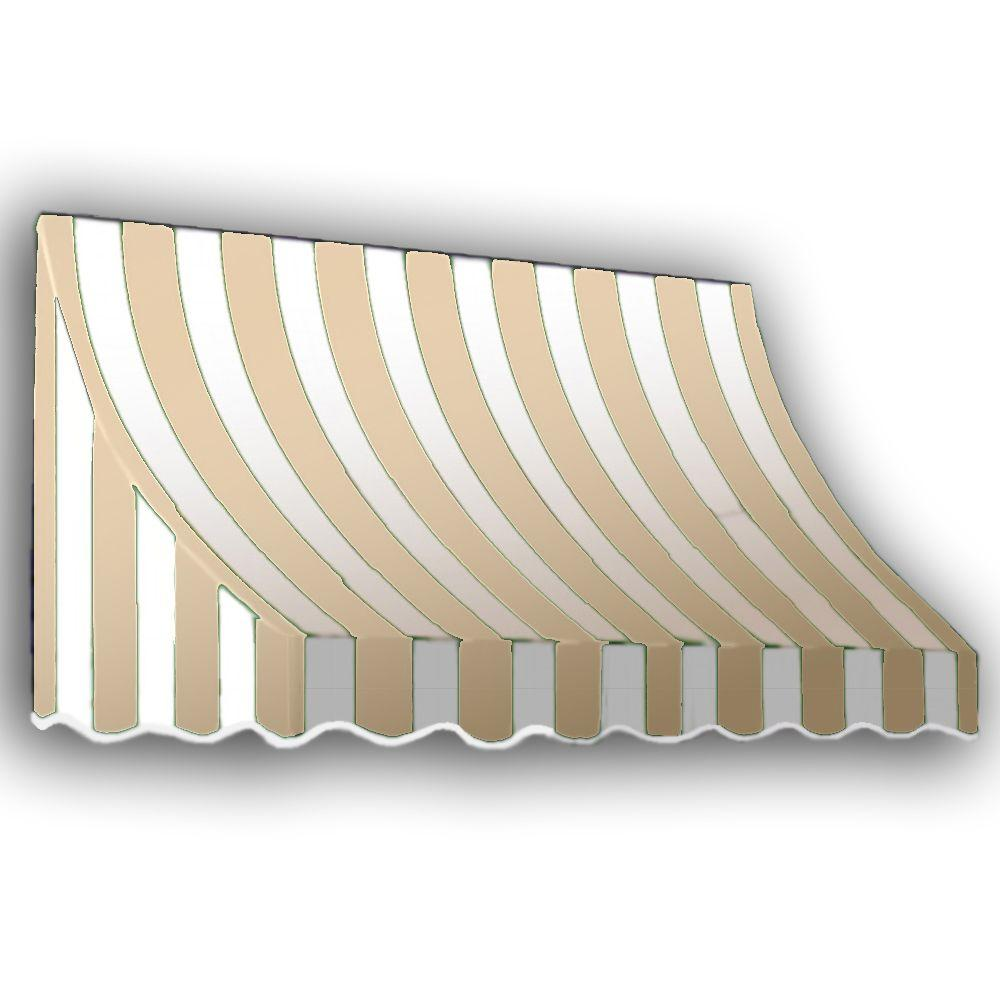 AWNTECH 20 ft. Nantucket Window/Entry Awning (56 in. H x 48 in. D) in Linen/White Stripe