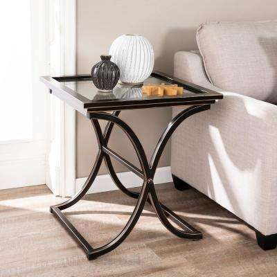 Black Glass End Tables Accent Tables The Home Depot