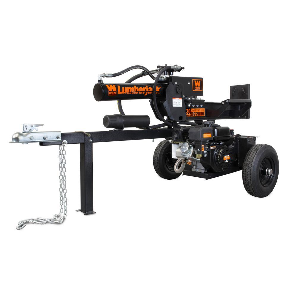 Lumberjack 30-Ton 212cc Gas-Powered Log Splitter - CARB Compliant