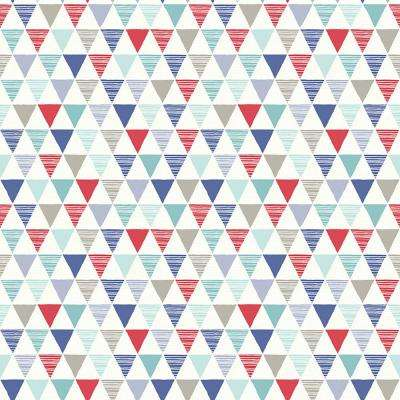Jester Red/Blue Wallcovering
