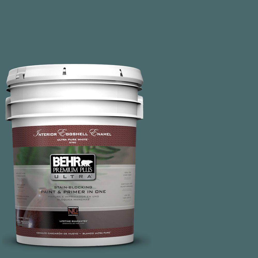 BEHR Premium Plus Ultra 5-gal. #510F-6 Solitude Eggshell Enamel Interior Paint