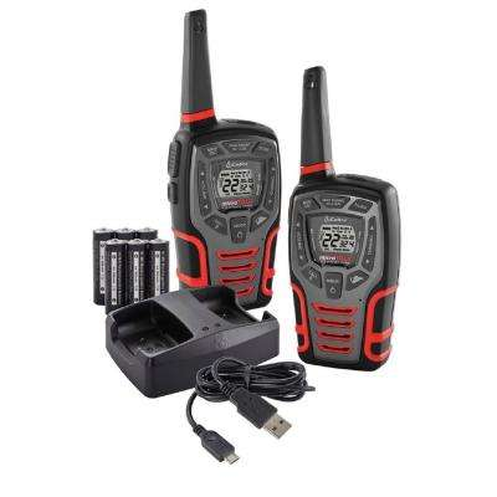 28-Mile Range Rugged 2-Way Radio Value Pack and Dock