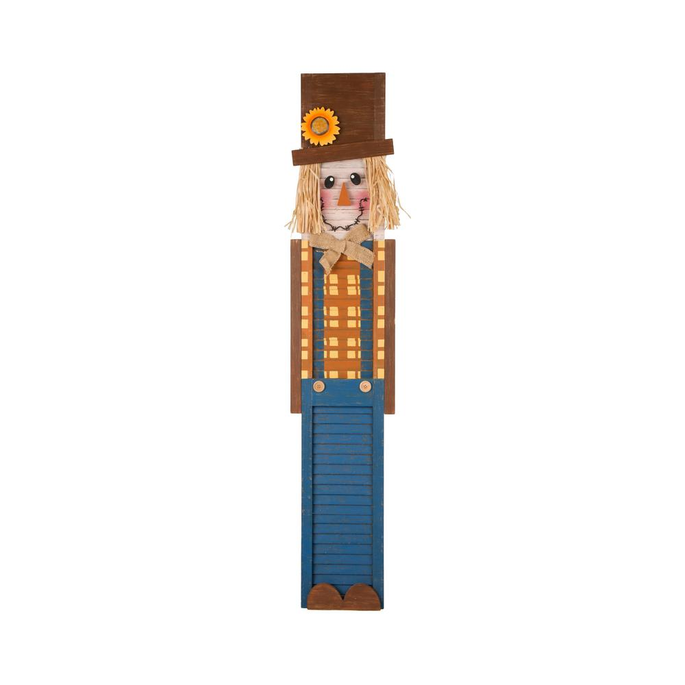 Glitzhome 42 in. H Wooden Scarecrow Porch Sign