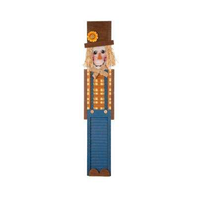 42 in. H Wooden Scarecrow Porch Sign