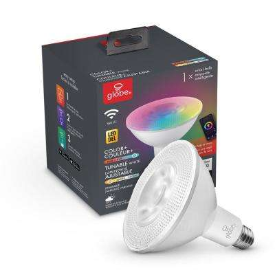 90-Watt Equivalent PAR38 E26 Base Dimmable Wi-Fi Smart LED Light Bulb Color Changing RGB Tunable White