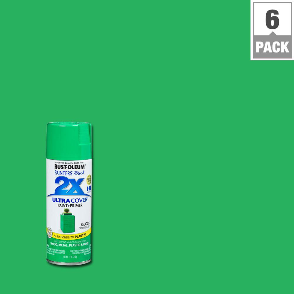 12 oz. Gloss Spring Green General Purpose Spray Paint (6-Pack)