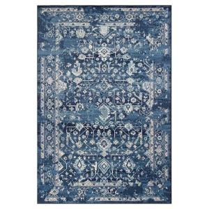 Kas Rugs Bob Mackie Vintage Azure Blue Marrakesh 8 Ft X