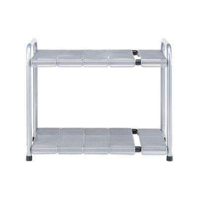 2-Tier Steel Expandable Sink Shelf