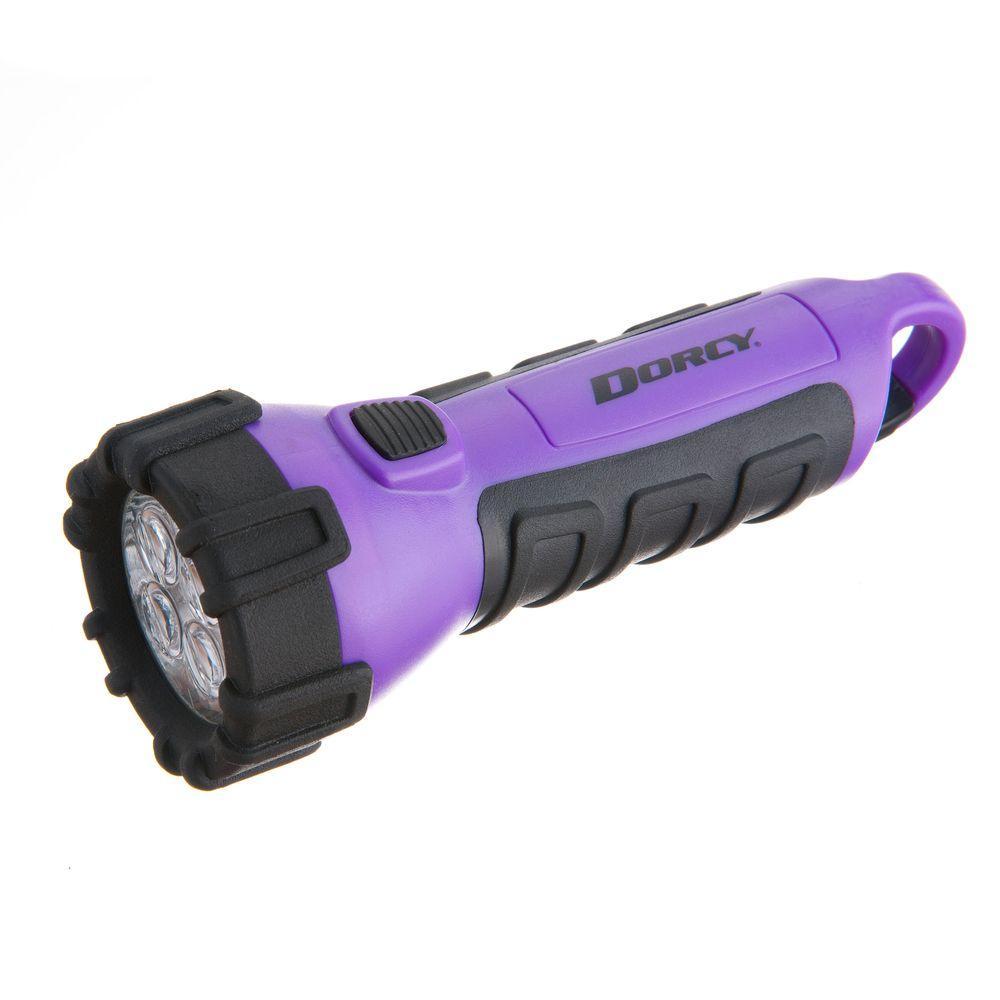 Battery Powered LED Carabineer Clip Floating Flashlight, Purple