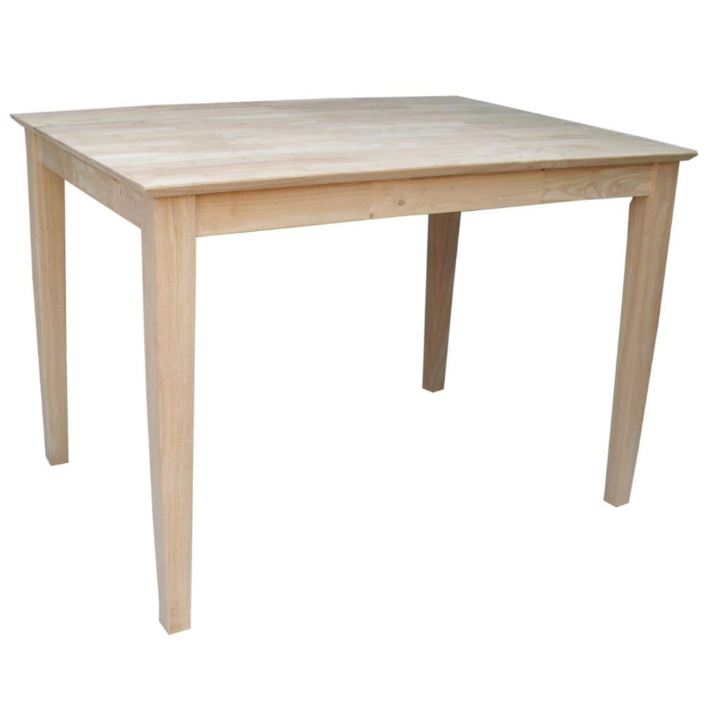 International Concepts Unfinished Shaker Dining Table. International Concepts Unfinished Shaker Dining Table K 3042 30S