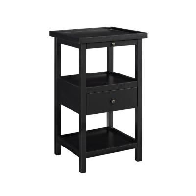 Palmer Black Table with Shelf