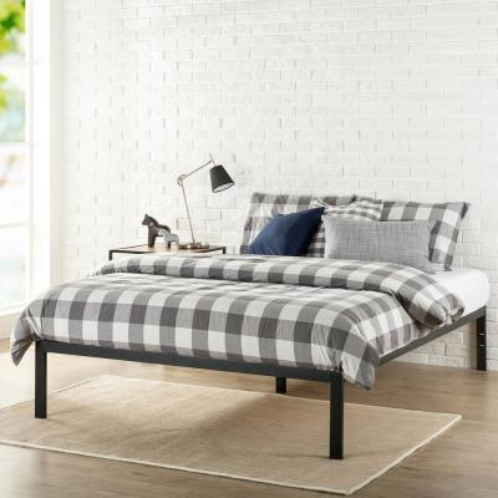 Mia Modern Studio 14 Inch Platform 1500 Metal Bed Frame, Mattress Foundation, Twin
