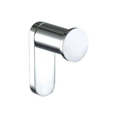 Oval Single Robe and Towel Hook in Polished Chrome