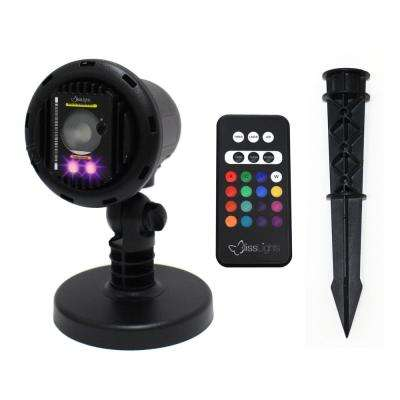 Purple Laser with Integrated 16 Color LED Flood Landscape Light