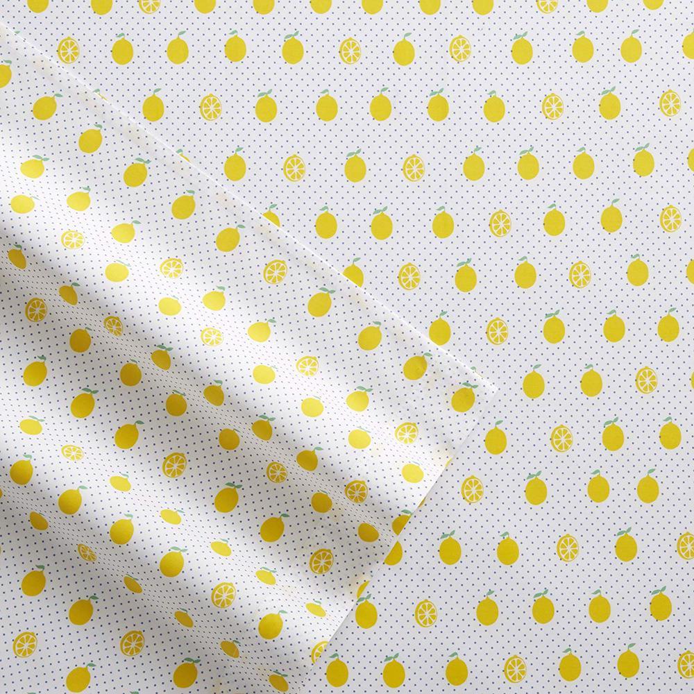Poppy & Fritz Lemons 3-Piece Yellow 200 Thread Count Twin XL Sheet Set